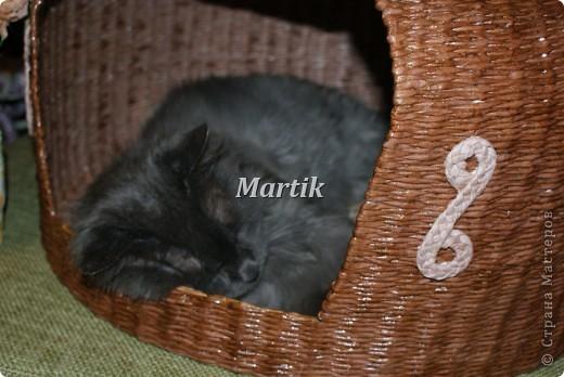 Поделка, изделие Плетение: Домик для кота Бумага. Фото 7