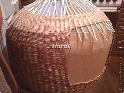 Поделка, изделие Плетение: Домик для кота Бумага. Фото 9