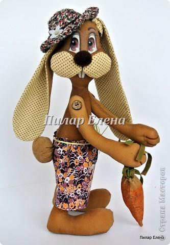 Куклы Шитьё: Кролик Фока Ткань. Фото 1