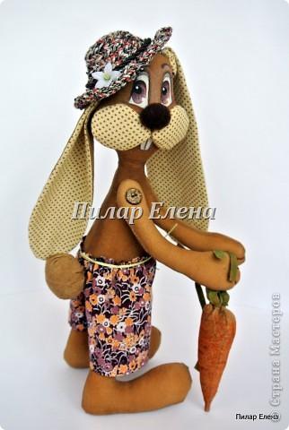 Куклы Шитьё: Кролик Фока Ткань. Фото 2