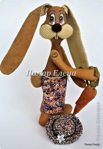 Куклы Шитьё: Кролик Фока Ткань. Фото 4