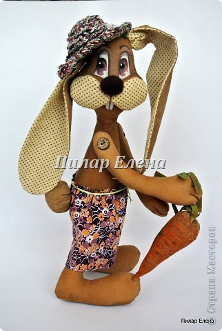 Куклы Шитьё: Кролик Фока Ткань. Фото 5