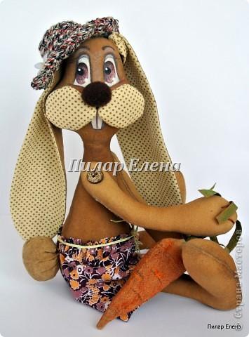 Куклы Шитьё: Кролик Фока Ткань. Фото 6