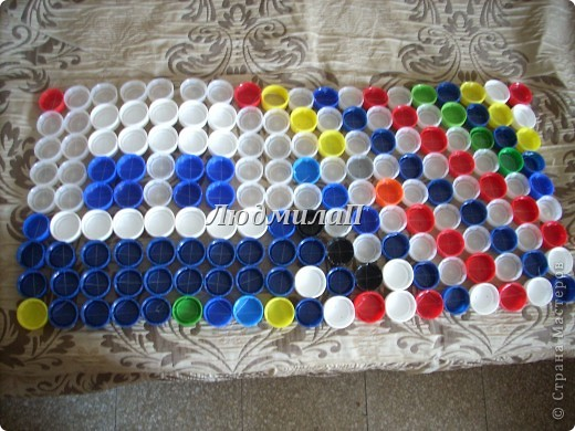 Коврик из бутылок пластиковых своими руками 741