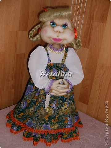 Куклы, Мастер-класс Шитьё: Грелка на чайник и МК каркаса нижней юбки Проволока, Ткань. Фото 28
