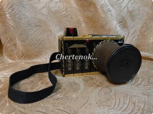 Мастер-класс, Поделка, изделие Моделирование: Фотоаппарат из конфет + МК Бумага гофрированная, Бусинки, Продукты пищевые Дебют. Фото 1