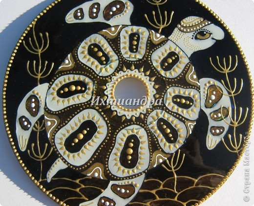 Картина, панно, рисунок Роспись: Золотые мелодии витражных CD дисков Диски компьютерные, Краска День рождения. Фото 3