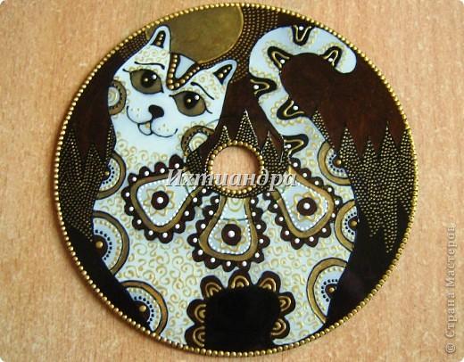 Картина, панно, рисунок Роспись: Золотые мелодии витражных CD дисков Диски компьютерные, Краска День рождения. Фото 7