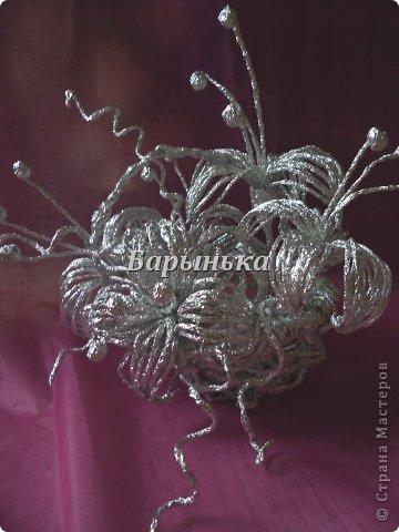 Мастер-класс, Поделка, изделие Плетение: Серебряные цветы + МК по созданию корзинки из фольги  Фольга 8 марта. Фото 1