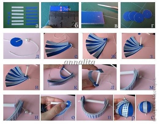 Как сделать из бумаги шар пошаговая инструкция