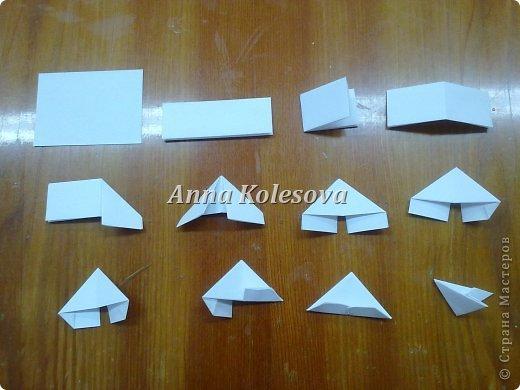 Как сделать деда мороза из треугольников