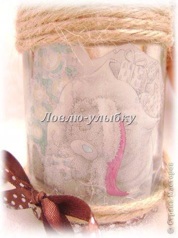 Декор предметов: Мишка в банке Банки стеклянные Новый год, Рождество. Фото 2