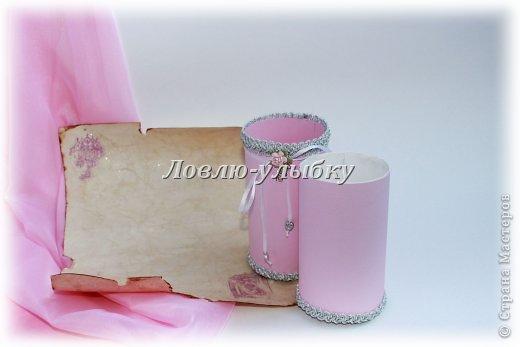 Открытка, Упаковка Аппликация: Свиток - поздравление в тубе Бумага Свадьба. Фото 1