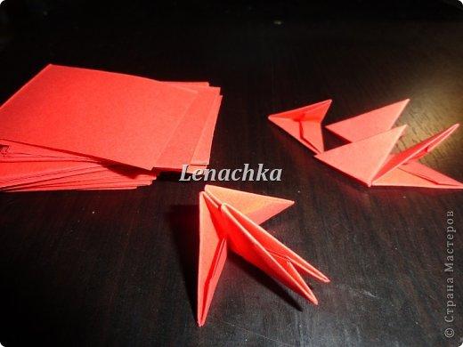 Мастер-класс Оригами модульное: МК сердечка  Бумага Валентинов день. Фото 2