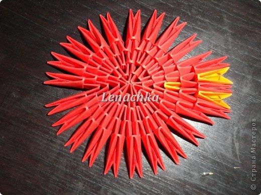 Мастер-класс Оригами модульное: МК сердечка  Бумага Валентинов день. Фото 6