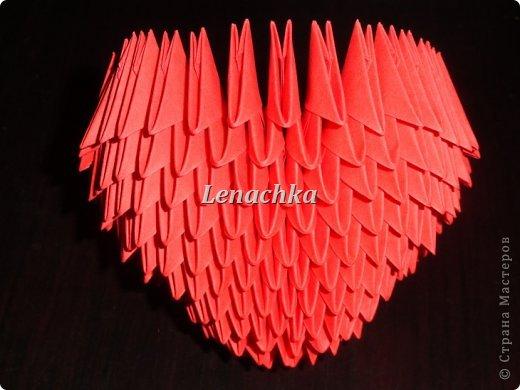 Мастер-класс Оригами модульное: МК сердечка  Бумага Валентинов день. Фото 8