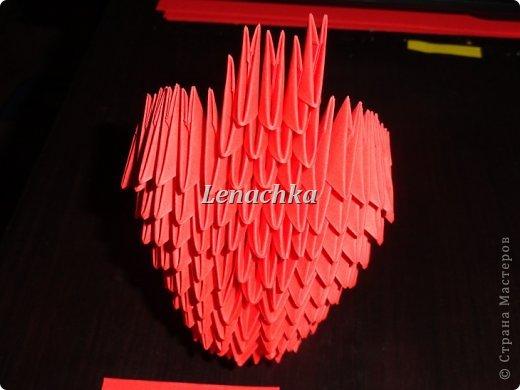 Мастер-класс Оригами модульное: МК сердечка  Бумага Валентинов день. Фото 9