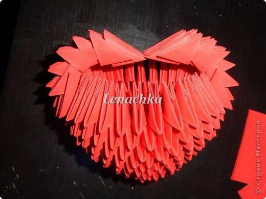 Мастер-класс Оригами модульное: МК сердечка  Бумага Валентинов день. Фото 10