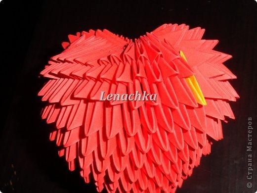 Мастер-класс Оригами модульное: МК сердечка  Бумага Валентинов день. Фото 11
