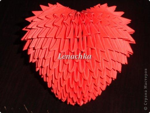 Мастер-класс Оригами модульное: МК сердечка  Бумага Валентинов день. Фото 14