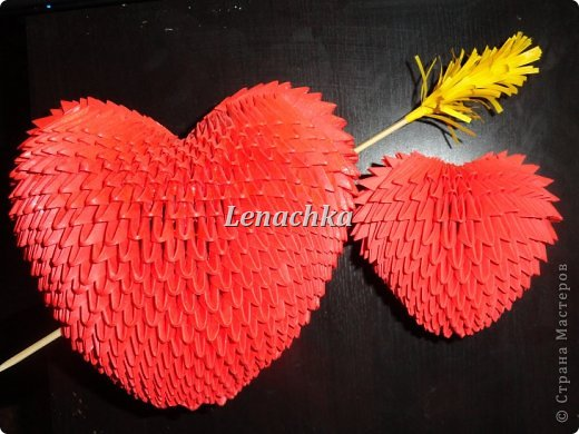Мастер-класс Оригами модульное: МК сердечка  Бумага Валентинов день. Фото 1
