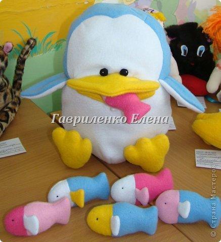 """Игрушка Шитьё: Развивающая игрушка """"Пингвин - проглот"""" Ткань. Фото 1"""