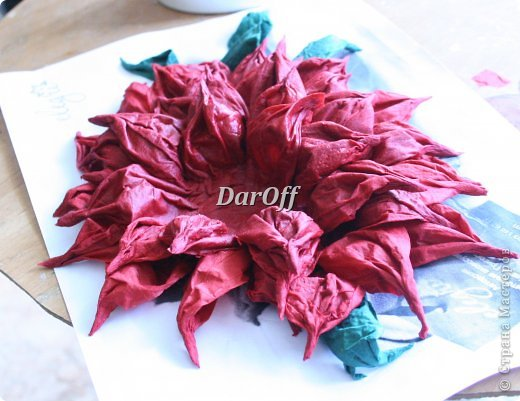 Цветы из папье-маше