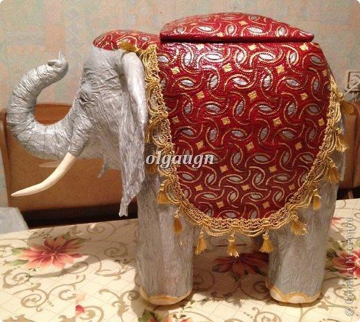 Мастер-класс Папье-маше: Слон-сундучок Бумага газетная. Фото 10