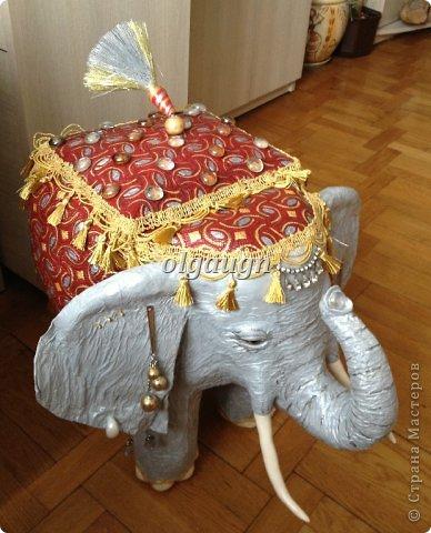 Мастер-класс Папье-маше: Слон-сундучок Бумага газетная. Фото 16