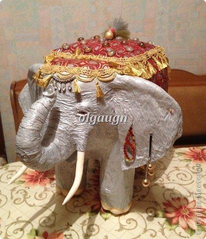 Мастер-класс Папье-маше: Слон-сундучок Бумага газетная. Фото 15