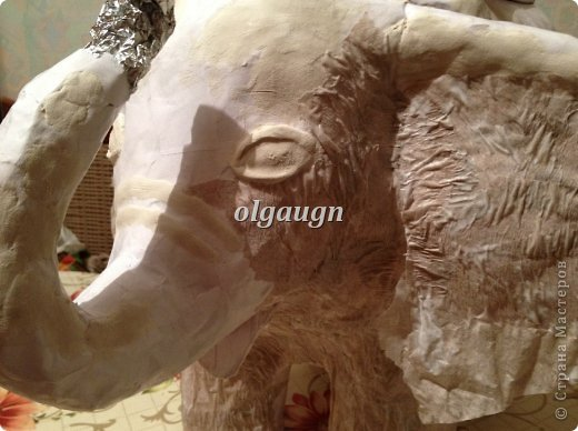 Мастер-класс Папье-маше: Слон-сундучок Бумага газетная. Фото 7