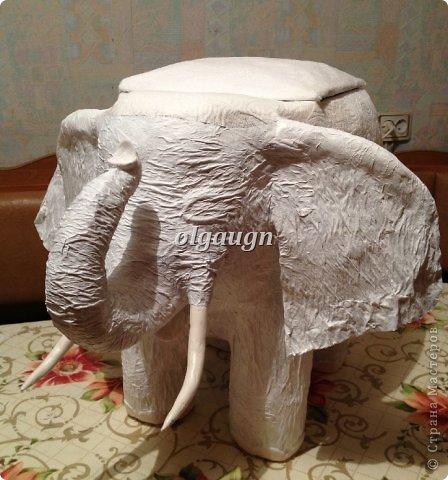 Мастер-класс Папье-маше: Слон-сундучок Бумага газетная. Фото 8