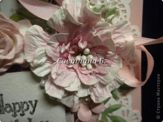Мастер-класс, Открытка Ассамбляж: Открытка для англичанки и МК цветка Бумага, Картон День рождения. Фото 2