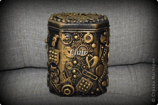 """Декор предметов, Мастер-класс Ассамбляж: Шкатулка """"Асса"""" и мини МК о том, как я делаю жгутики для аппликаций. Клей, Краска, Крупа, Материал бросовый, Пряжа. Фото 1"""