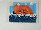 Картина из салфеточных комочков