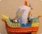 Модульное оригами - Корабль беда из мультфильма Капитан Врунгель.