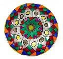 Роспись тарелки в витражной технике