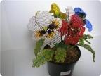 Схемы растений из бисера.
