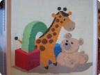детское панно вышивка крестиком из набора для вышивки
