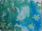 А белый лебедь на пруду. Хохлова Маргарита, 1,5 года.