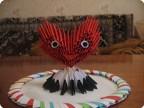 Модульное оригами - любящее сердце.