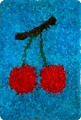 Цветы и вишня. торцевание