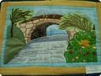Пейзаж на ткани своими руками 868