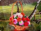 """Корзина с цветами """"Весеннее настроение"""""""