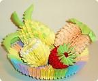 Оригами модульное: Корзина с фруктами.