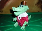Модульное оригами - Крокодил Гена.