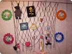 сетка из нитей для поделок и игрушек.