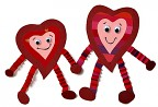 Аппликации с сердечками