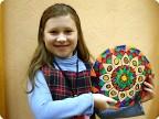 Витражная тарелочка. Павлова Вика 8 лет