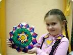 Витражная тарелочка. Пыхтина Саша 6 лет